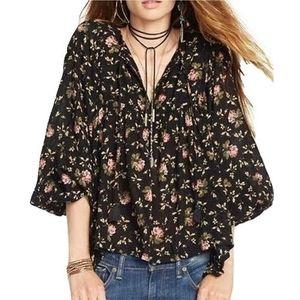 RL Denim & Supply peasant blouse black S Medium